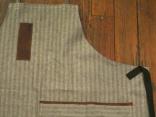 Herringbone & Leather Detail